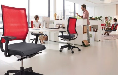 ergonomic office chairs red mesh backing