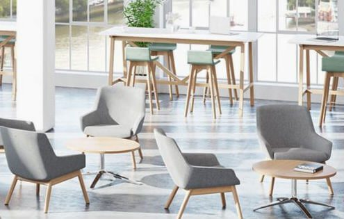 visit our office furniture showroom