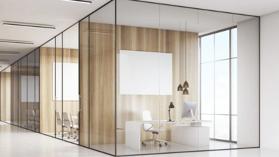 coworking hub glass partition
