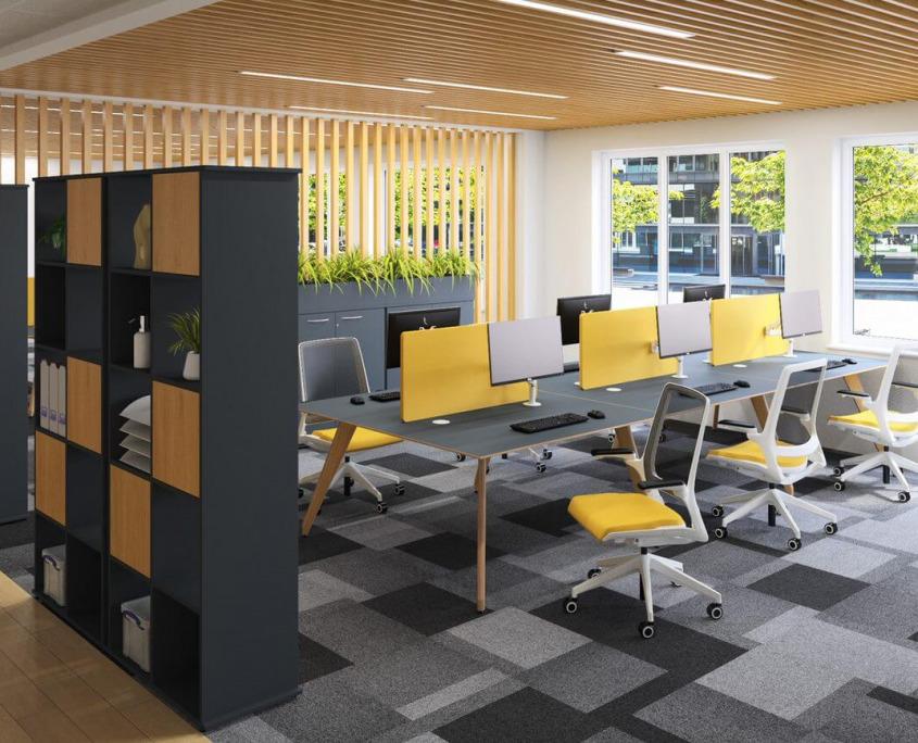 Bench desks by Quillls interiors